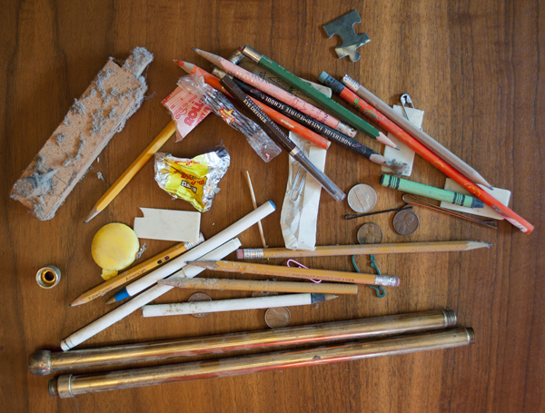 Typical Junk Found in and around Piano Keys